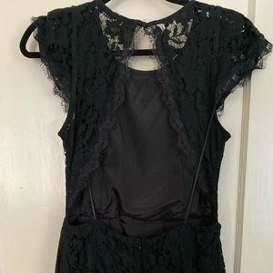 Black lace dress with back cutout